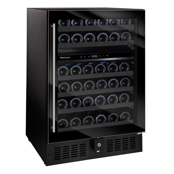 N'FINITY S Dual Zone 46 Bottle Wine Cooler Full Glass Door