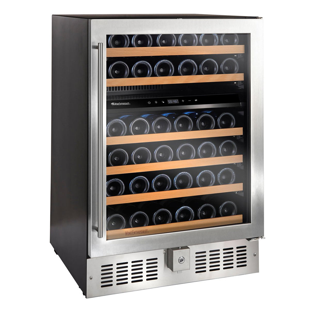 N'FINITY S Dual Zone 46 Bottle Wine Cooler Stainless