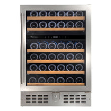 Load image into Gallery viewer, N'FINITY S Dual Zone 46 Bottle Wine Cooler Stainless