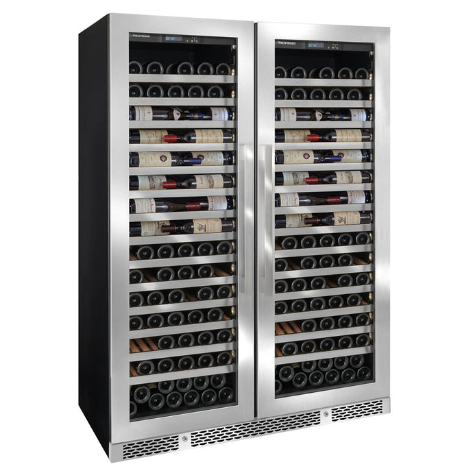 Vinotheque Double Café 300 Bottle Wine Cooler Stainless Steel Door
