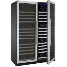 Load image into Gallery viewer, Allavino Flexcount II 354 Bottle Dual Zone Stainless Side-By-Side Wine Cooler