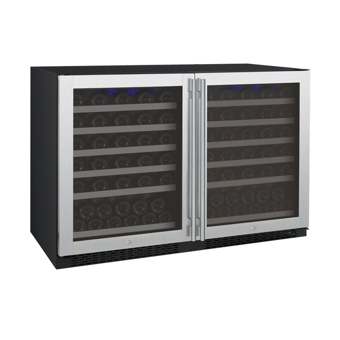 Allavino FlexCount II 112 Bottle Dual Zone Stainless Side-by-Side Wine Cooler