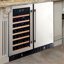 "Load image into Gallery viewer, N'FINITY PRO HDX 30"" 35 Bottle/ 90 Can Wine and Beverage Cooler"