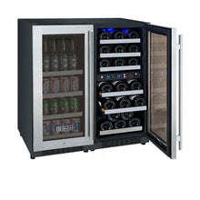 Load image into Gallery viewer, Allavino FlexCount II 30 Bottle/88 Can Three Zone Stainless Side-by-Side Wine and Beverage Center