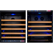 Load image into Gallery viewer, Allavino FlexCount II 349 Bottle Three Zone Black Side-by-Side Wine Cooler