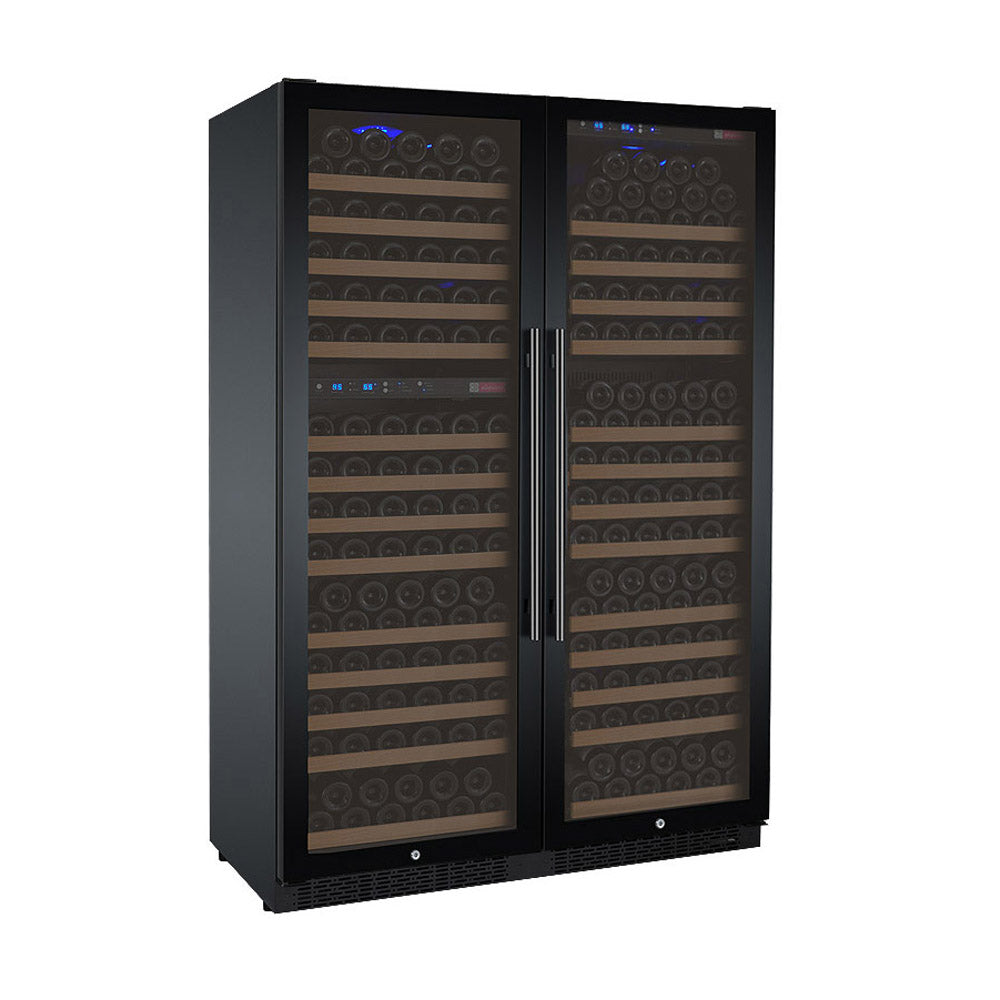 Allavino FlexCount II 349 Bottle Three Zone Black Side-by-Side Wine Cooler