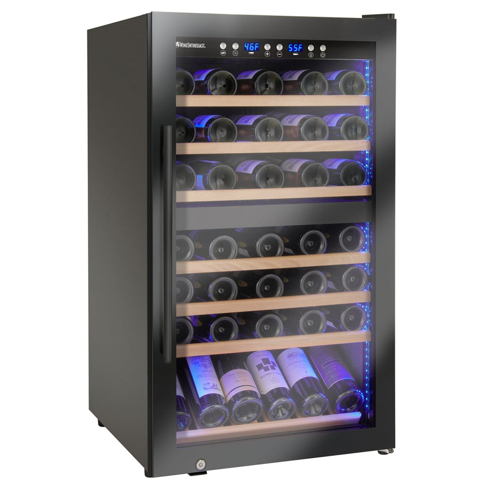 Wine Enthusiast Classic 70 Bottle Dual Zone Wine Cooler
