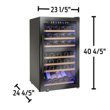 Load image into Gallery viewer, Wine Enthusiast Classic 70 Bottle Dual Zone Wine Cooler