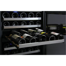 Load image into Gallery viewer, Allavino FlexCount II 112 Bottle Four Zone Stainless Side-By-Side Wine Cooler