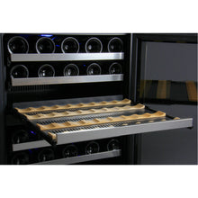 Load image into Gallery viewer, Allavino FlexCount II 112 Bottle Dual Zone Stainless Side-by-Side Wine Cooler