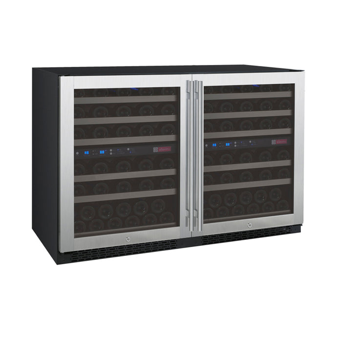 Allavino FlexCount II 112 Bottle Four Zone Stainless Side-By-Side Wine Cooler