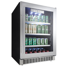 Load image into Gallery viewer, Silhouette Saxony 6 Bottle 126 Can Single Zone Wine & Beverage Cooler