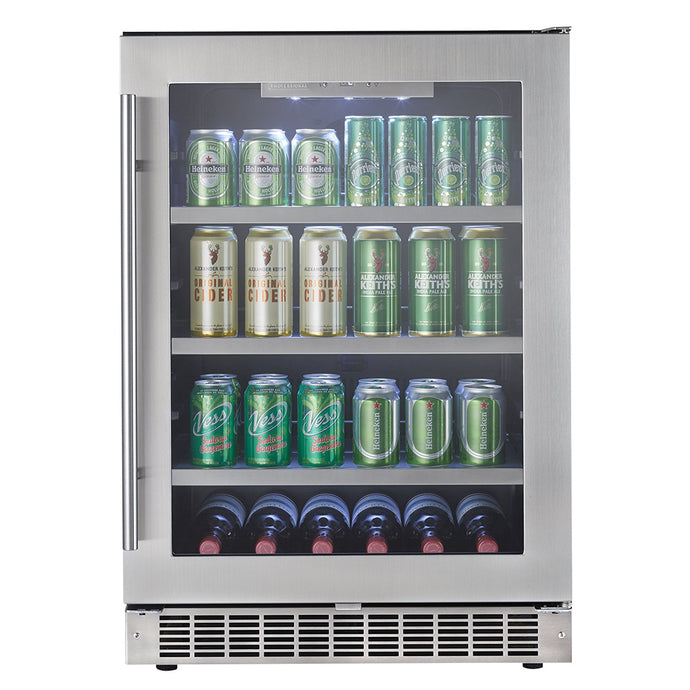 Silhouette Saxony 6 Bottle 126 Can Single Zone Wine & Beverage Cooler