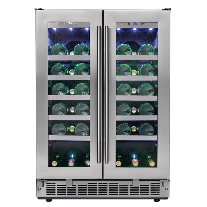 Silhouette Napa 42 Bottle Dual Zone Wine Cooler
