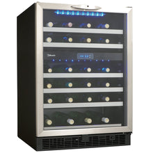 Load image into Gallery viewer, Silhouette Stilton 51 Bottle Dual Zone Wine Cooler