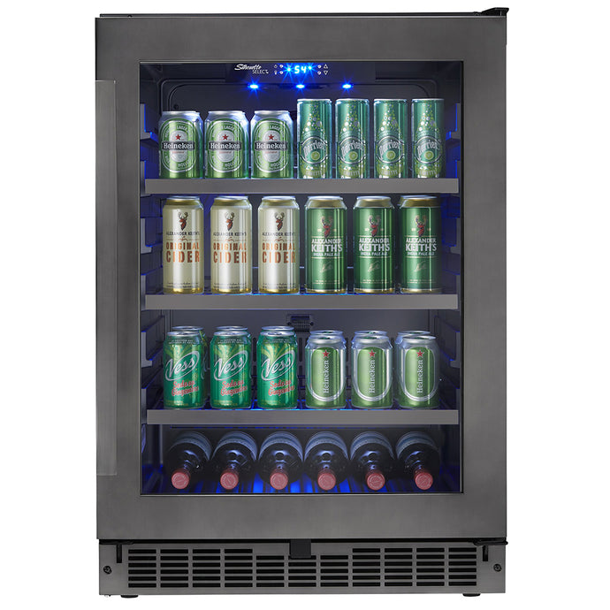 Silhouette Prague 6 Bottle 138 Can Single Zone Wine & Beverage Cooler