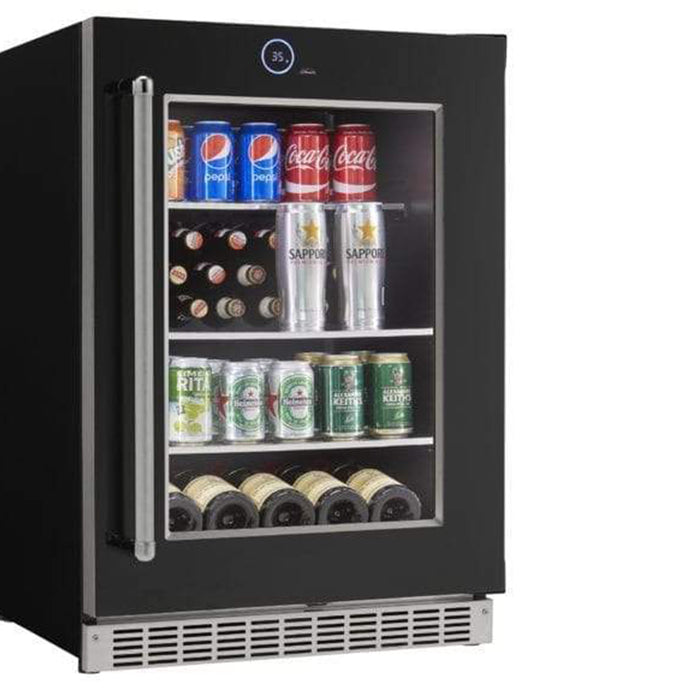 Silhouette 5 Bottle 105 Can Single Zone Wine & Beverage Cooler