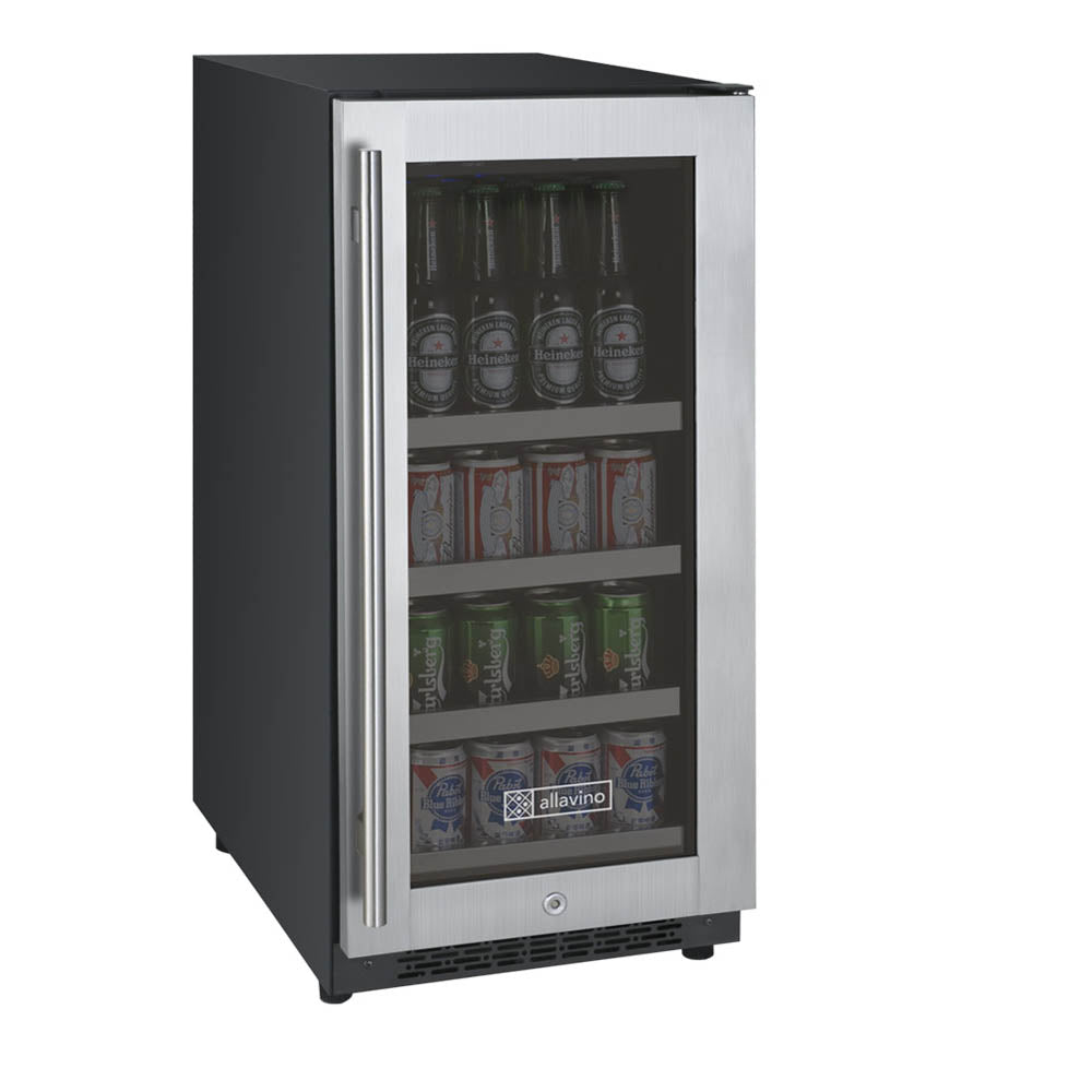 Allavino FlexCount II 28 Beer Bottle Tru-Vino Stainless Beverage Center