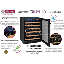 Load image into Gallery viewer, Allavino FlexCount II 112 Bottle Dual Zone Black Side-by-Side Wine Cooler