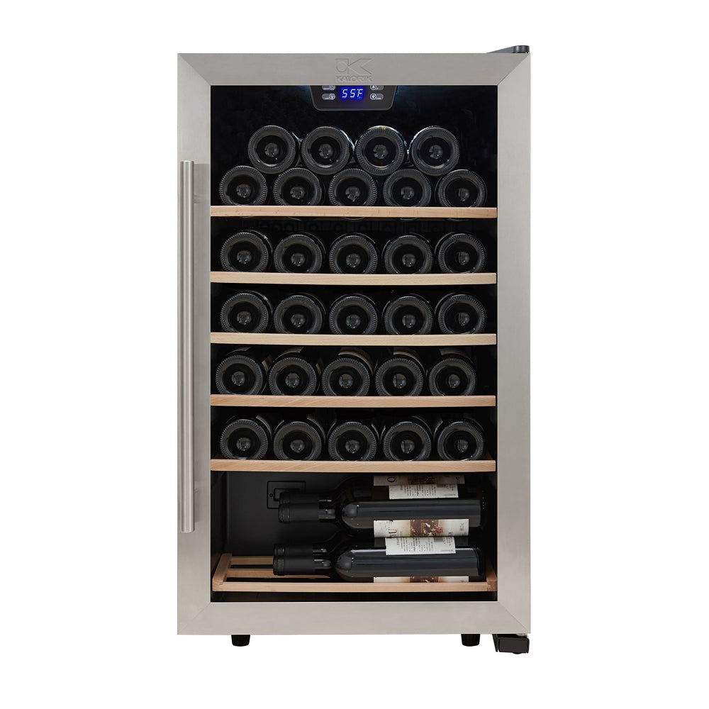 Kalorik 33 Bottle Single Zone Wine Cooler