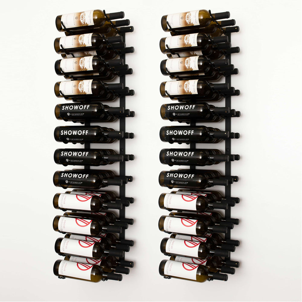 VintageView 72 Bottle Wall Mount Wine Rack Kit