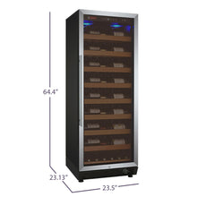Load image into Gallery viewer, Allavino 99 Bottle Black Single Zone Wine Cooler
