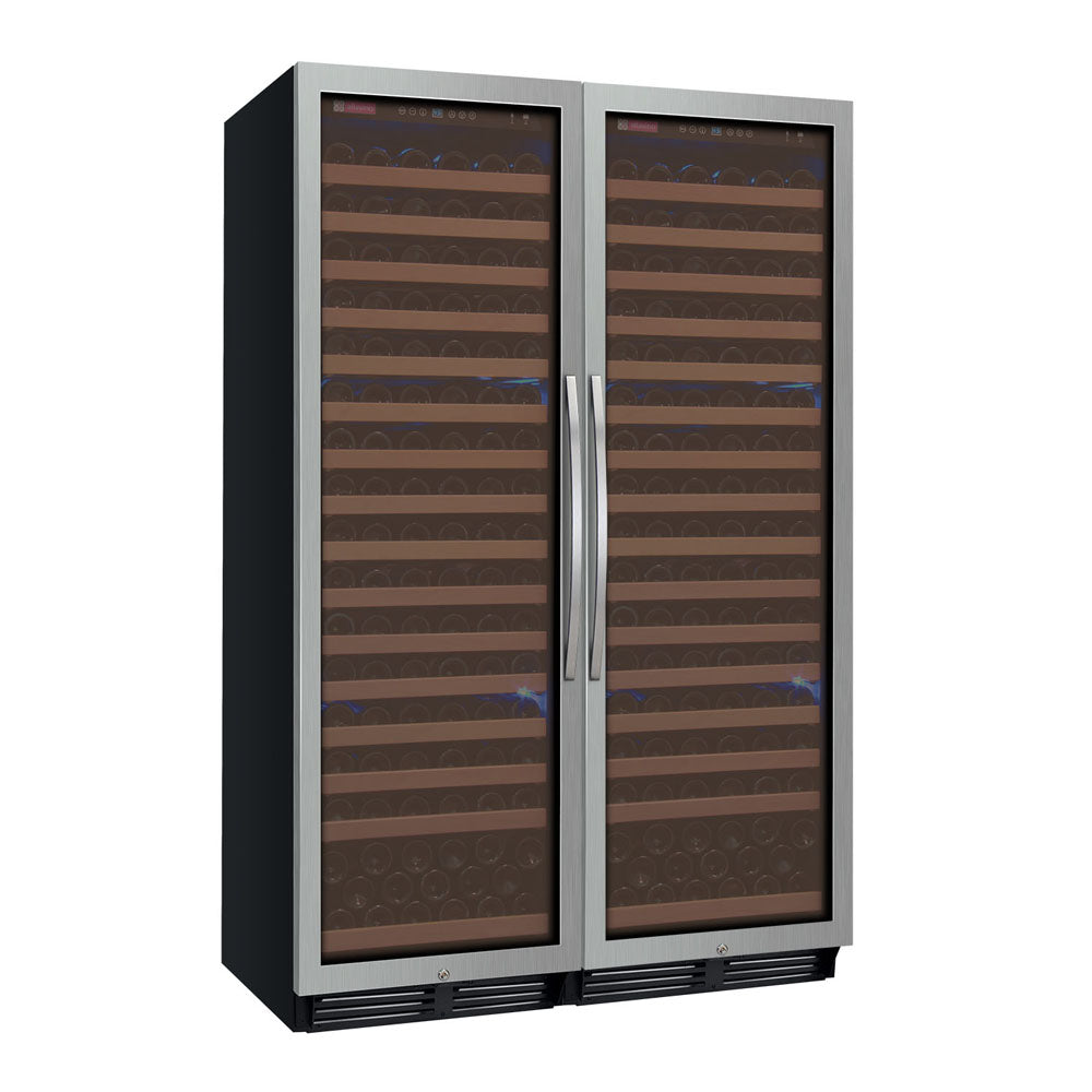 Allavino FlexCount Classic II 348 Bottle Dual Zone Stainless Side-By-Side Wine Cooler