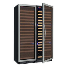 Load image into Gallery viewer, Allavino FlexCount Classic II 348 Bottle Dual Zone Stainless Side-By-Side Wine Cooler