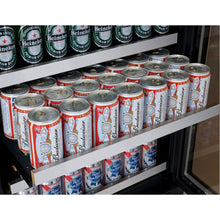 Load image into Gallery viewer, Allavino FlexCount II 56 Bottle/124 Can Stainless Side-by-Side Wine and Beverage Center
