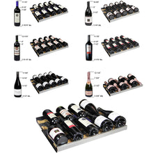 Load image into Gallery viewer, Allavino FlexCount II 344 Bottle Four Zone Black Side-by-Side Wine Cooler
