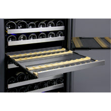 Load image into Gallery viewer, Allavino FlexCount II 242 Bottle Four Zone Stainless Steel Side-by-Side Wine Cooler