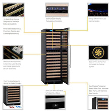 Load image into Gallery viewer, KingsBottle 164 Bottle Dual Zone Wine Cooler