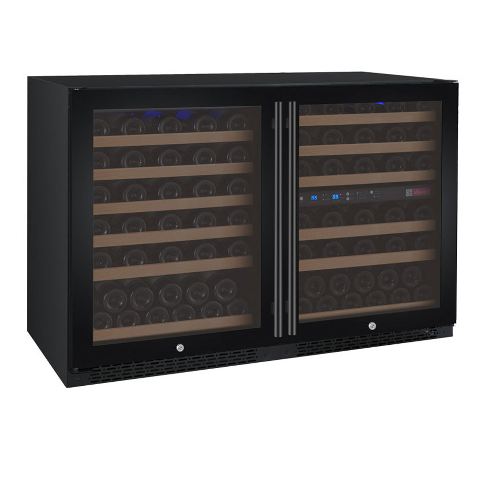 Allavino FlexCount II 112 Bottle Three Zone Black Side-by-Side Wine Cooler