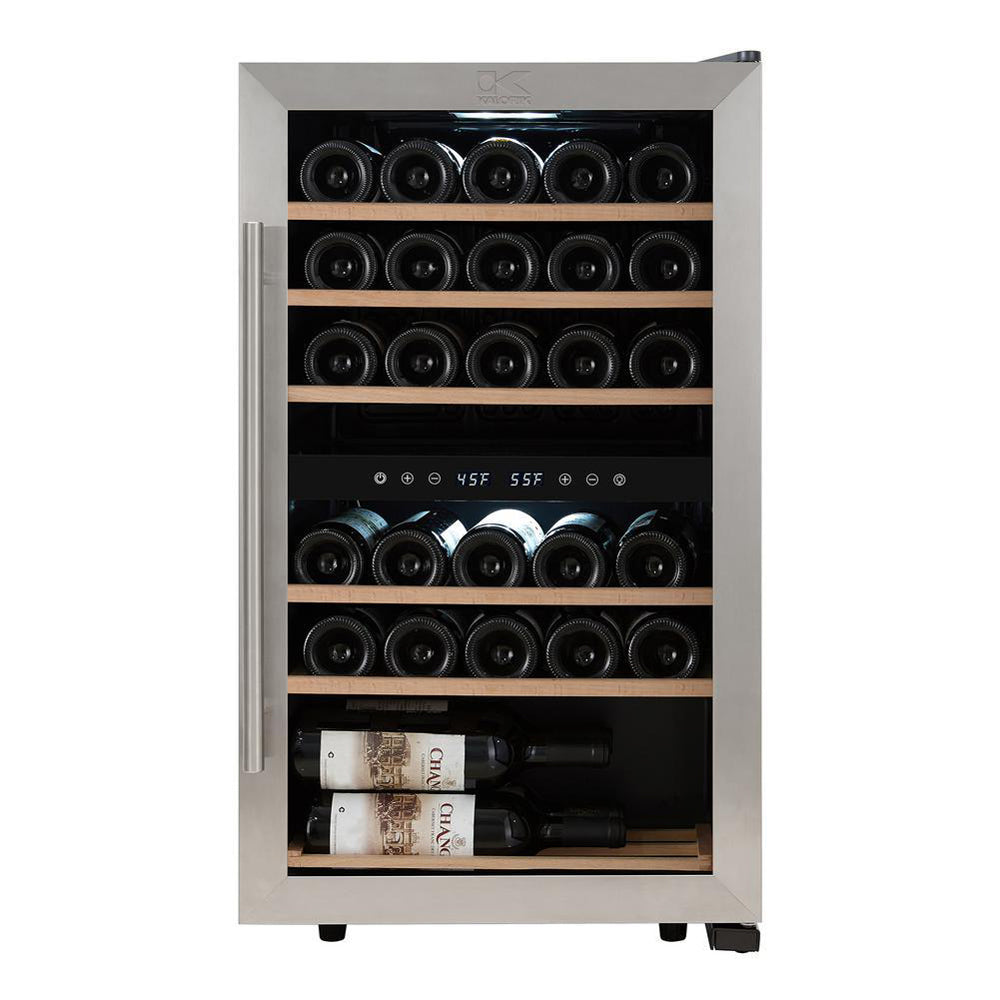 Kalorik 29 Bottle Dual Zone Wine Cooler