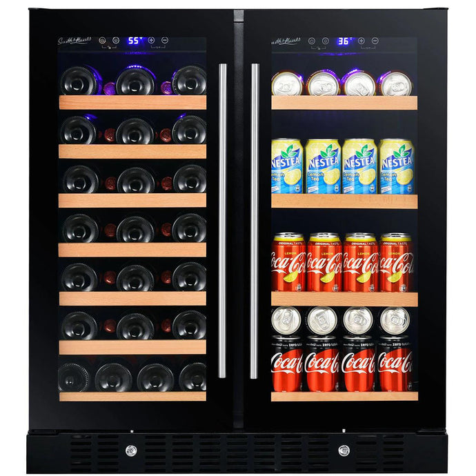 Smith & Hanks 32 Bottle Dual Zone Wine & Beverage Cooler RE100018