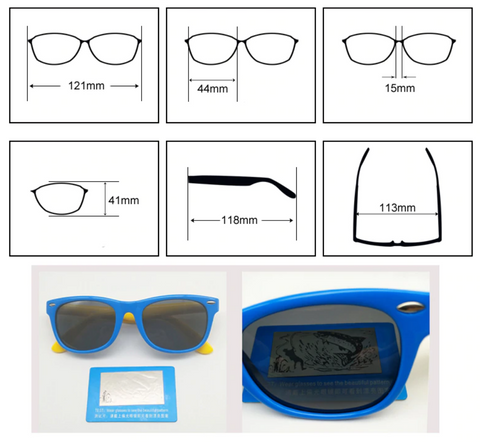 kids' polarised sunglasses dimensions best eye protection from the sun