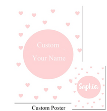 Load image into Gallery viewer, Personalised Little Girl Name Poster, Personalised Item - All Things Babies