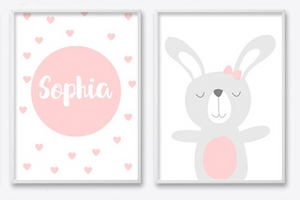 Personalised Little Girl Name Poster, Personalised Item - All Things Babies