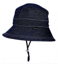 Load image into Gallery viewer, Bedhead Kids Bucket Hat with Strap - Denim, Bedhead hat - All Things Babies