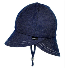 Load image into Gallery viewer, Legionnaire Hat with Strap - Denim, Bedhead hat - All Things Babies