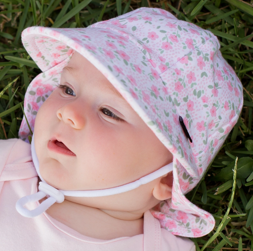 Girls Legionnaire Hat 'Mia' Print, Bedhead hat - All Things Babies