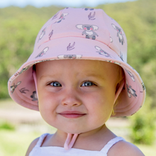 Load image into Gallery viewer, Girls Baby Bucket Hat 'Koala' Print, Bedhead hat - All Things Babies