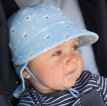 Load image into Gallery viewer, Legionnaire Flap Hat 'Frenchie' Print, Bedhead hat - All Things Babies
