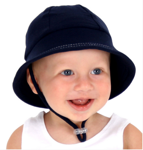 Baby Bucket Hat - Navy, Bedhead hat - All Things Babies