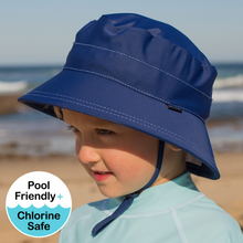 Load image into Gallery viewer, Kids UPF50+ Bucket Swim Hat - Marine, Bedhead hat - All Things Babies