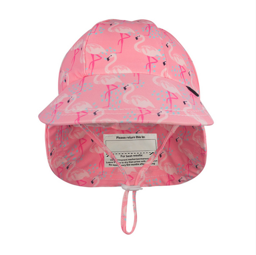Bedhead Beach Legionnaire Hat UPF50+ Flamingo, Bedhead hat - All Things Babies