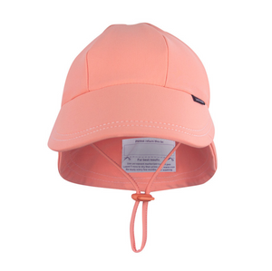 Legionnaire UPF50+ Swim Bedhead Hat - Peach, Bedhead hat - All Things Babies