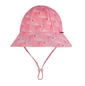 Bedhead Beach Hat Bucket UPF50+ Flamingo Print, Bedhead hat - All Things Babies