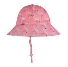 Load image into Gallery viewer, Bedhead Beach Hat Bucket UPF50+ Flamingo Print, Bedhead hat - All Things Babies