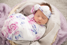 Load image into Gallery viewer, Swaddle and Bow Set, Swaddle - All Things Babies